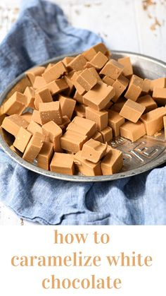 Visual guide with lots of photos to teach you step by step how to caramlize white chocolate! Caramelized White Chocolate, Chocolate Sticks, Like Chocolate, No Bake Bars, Caramel Flavoring, Cocoa Butter, Food Hacks, A Food