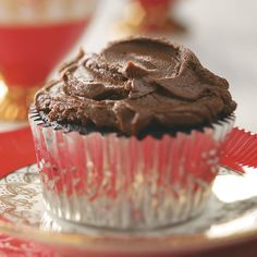 Egg- and Lactose-Free Chocolate Cupcakes Recipe -These super-chocolaty, moist cupcakes don't have eggs or lactose, but they don't lack a bit of flavor. A yummy treat that travels well and appeals to all ages, this is one recipe you'll keep handy year-round. —Taste of Home Test Kitchen