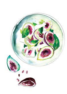 Sarah Hankinson - The Illustration Room 2016 Calendar, Food Illustrations, Fig, Doodles, Artwork, Artist, Instagram Posts, Painting, Inspiration