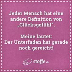 Glückssache ;-) #quote #meme #spruch #sprüche #glück #nähen #diy