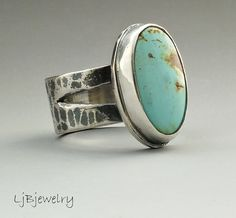 Turquoise Ring Turquoise Jewelry Silver Ring by LjBjewelry on Etsy