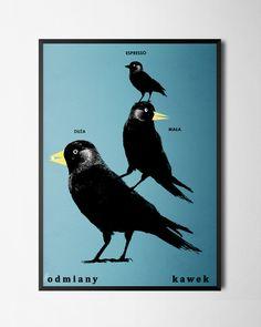 Plakat Kawki B2, Jakub Zasada Moose Art, Batman, Superhero, Movie Posters, Animals, Fictional Characters, Suitcase, Poster, Animales