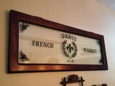 Paris French Market Glass Sign by VintageHomeLiving on Etsy, $95.00