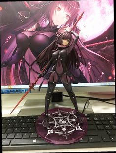 49.00$  Buy now - http://ali2z5.worldwells.pw/go.php?t=32785133956 - Anime Plum Fate/Grand Order Lancer PVC Action Figure Collectible Model doll toy 31cm 49.00$
