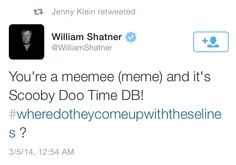 Can I just say how awesome it is that Shatner watches SPN?!