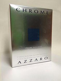 Azzaro Chrome for Men 6.8 Oz Eau De Toilette Spray with 1 Oz Eau De Toilette Spray Set