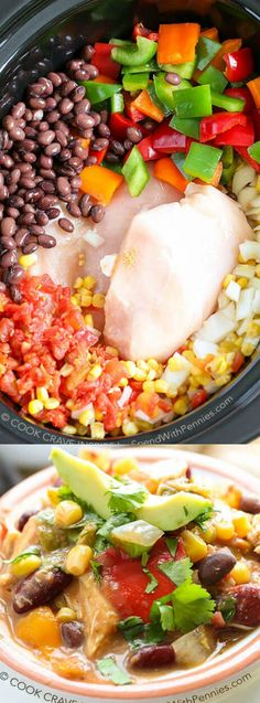 This Slow Cooker Chicken Chili recipe from Spend with Pennies comes together quickly and tastes ahh-mazing! It's a healthy hearty dinner that your friends and family will love.