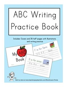 Abc Writing Practice Book  Writing Practice Lower Case Letters