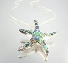 Ocean Waves Starfish Necklace by Camla.
