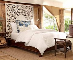 Love this bed w/ panel headboard.