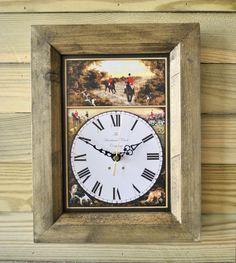 The Handmade Furniture Company Rustic The Hunt Handmade Wooden Wall Clock, £19.99
