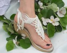 Bohemian Wedding Sandals Rope sandals Comfortable andWoman's Wedding Shoes/Macrame and Leather Sandals by KateNikolovaItems similar to Bohemian Wedding Sandals Summer Macrame Shoes with Beads on Etsy Rope Sandals, Beaded Sandals, Open Toe Sandals, Leather Sandals, Shoes Sandals, Macrame Bag, Macrame Necklace, Pretty Sandals, Crochet Shoes