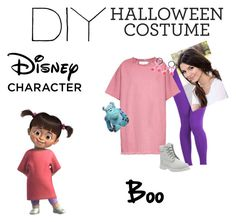 diy halloween costume boo from monsters inc by wonderlandangel liked on - Boo Halloween Costumes