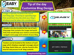 Tip of the day - Customize Blog Design.