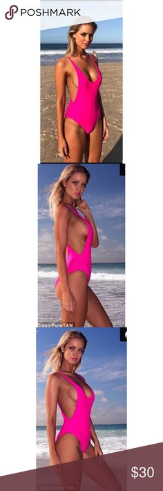 🔥🔥gabar hot pink one piece suit🔥🔥 Gabar once piece hot pink Swimsuit. The photographs of the model are how the suit fits. Shows off physique, hides unwanted areas and makes you look like a sexy hot tamale!! 🔥🔥 gabar Swim One Pieces