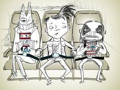 Nick Hewitt - Illustrator of the incredibly entertaining safety video on Virgin America airlines.