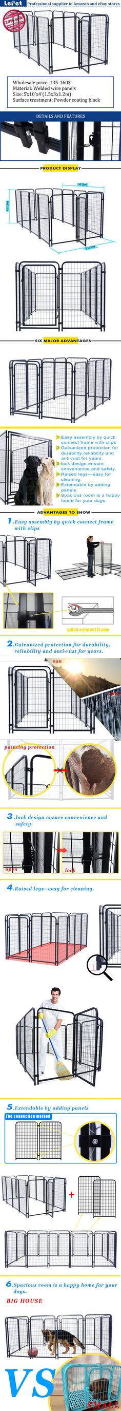Manufacturer wholesale welded wire mesh large dog cage/dog run kennels/dog run fence panels  manufacturers china/suppliers china
