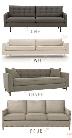 which one to choose? decisions, decisions...if i can't have my sectional, i'll take #3