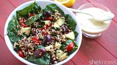 Greek quinoa salad is bursting with flavors and textures that make this Meatless Monday dish delish