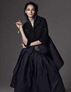 stormtrooperfashion:  Bruna Tenorio by Hong Jang Hyun for Harper's Bazaar Kazakhstan, October 2014