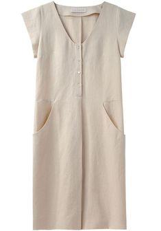Cacharel - Cap Sleeve Linen Dress