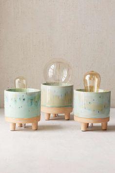 Footed Ceramic Lamp Base