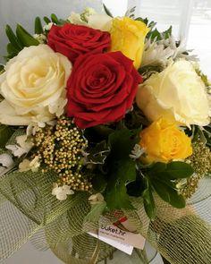 """Naše """"Mix ruže"""" na dostavi - jednoj baki za rođendan. #dostavacvijeća #internetcvjećarnica #rođendan"""