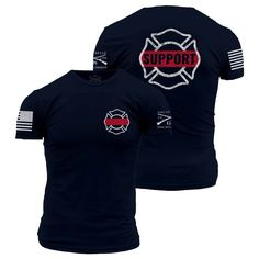 Police Officers are guardians by choice, heroes by chance. We support our Police Officers! Grunt Style's Support Police T-shirt is made of ultra-soft and comfortable cotton. Grunt Style Support Police T-Shirt - Large - Black. Firefighter Shirts, Volunteer Firefighter, Firefighter Tools, Firefighter Family, Firefighters Wife, Firefighter Wedding, Firefighter Quotes, Police Shirts, Police Gear