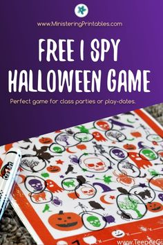 Use this free I Spy Halloween printable game for play dates, parties, or just for fun! Print it for free today! #Halloween #ISpy #ISpyPrintables #HalloweenPrintables #FreePrintables Halloween Games, Halloween Party, I Spy, Free Printables, Fun, Prints, Free Printable, Halloween Parties, Hilarious