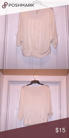 Max Studio Blouse Never worn. Cream color very airy Needs to be sold TODAY! ANYTHING NOT SOLD TODAY WILL BE GOING TO DONATIONS. WILLING TO NEGOTIATE PRICE! (Only certain items) Max Studio Tops Blouses