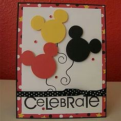 Micky mouse birthday card