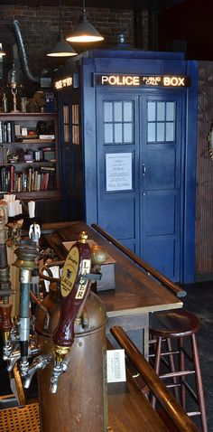 The Way Station — Brooklyn, New York | 19 Bars In America You Should Drink At Before You Die...there's a TARDIS in there!