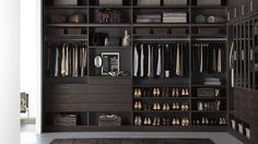 Espresso Finish - Modern Style - Closet Ideas - Container Store - Home Organization