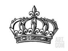 Fleur-de-lis Crown Art Print by Pop Ink - CSA Images at Art.com