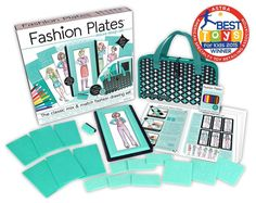 Fashion Design Plates Deluxe Kit Classic Set Updated Endless Combinations New #Kahootz