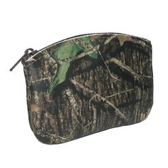 This pouch is perfect for holding your credit card, ID, and coins when on the go. The material is a high quality leather and has a unique camouflage finish. It is also a great size to fit comfortably in a front or back pocket.