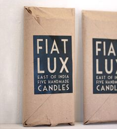Fiat lux candles / India
