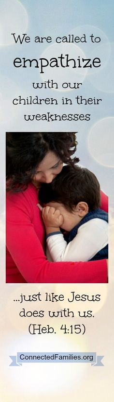 Empathy can play a powerful role when disciplining our children. ~Connectedfamilies.org