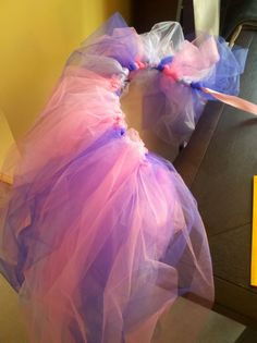 Adult-size and floor-length tutu I made for a fairy tale themed Halloween party -Rapunzel
