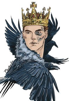 """""""He was a king."""" Gansey (""""The Raven Cycle"""" by @maggie-stiefvater)"""