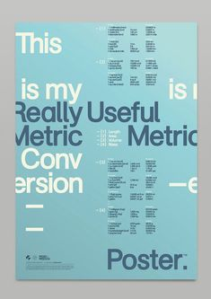 Really Useful Poster Series - Typographic Design by Mash Creative Layout Design, Grid Design, Book Design, Design Design, Funky Design, Minimal Design, Cover Design, Typography Inspiration, Graphic Design Inspiration