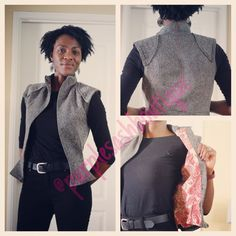 Warrior Vest: This Rey inspired (Star Wars) vest is available on my website for ordering  Be among the first to rock it! www.purplesashboutique.com