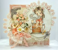 My latest card featuring Tilda With Millie the Mouse and Millies Bobbin from the Animal of the Year Collection, Pion papers and Marianne Designs Die CR1261 http://julieprice3.wordpress.com/2014/07/21/tilda-with-millie-the-mouse/