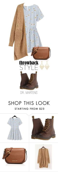 """Throwback Style: Dr. Martens"" by boxthoughts ❤ liked on Polyvore featuring Rebecca, Dr. Martens, MICHAEL Michael Kors, Charlotte Russe, DrMartens and throwbackstyle #bolsasmichalkors #bolsas #michalkors #bolso #bolsos"