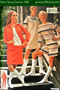 Get your GRoooove on with plenty of orange! #Sears #1968 #fashion #Groovy