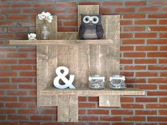 pallet shelf --- something simple like this for the den?