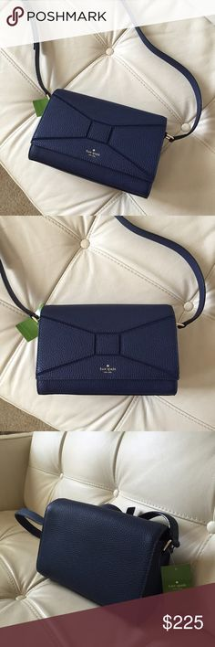 Betsi Kate Spade Navy Blue Crossbody Purse NWT. Dimensions: 9 inches wide, 6 inches tall kate spade Bags Crossbody Bags