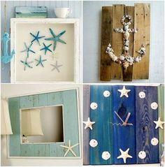 Resultado de imagem para imagem caixas decoradas com conchinhas do mar