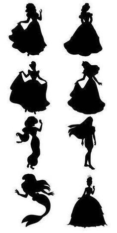 Mickey Mouse and Minnie Mouse Silhouettes // Minnie Mouse ...