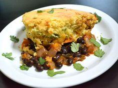 Vegetable Tamale Pie -- A to-die-for, spicier, vegetablier version of the Chili Cornbread Skillet.